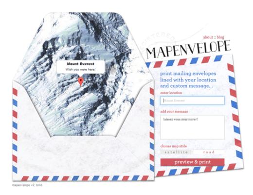 map enveloppe