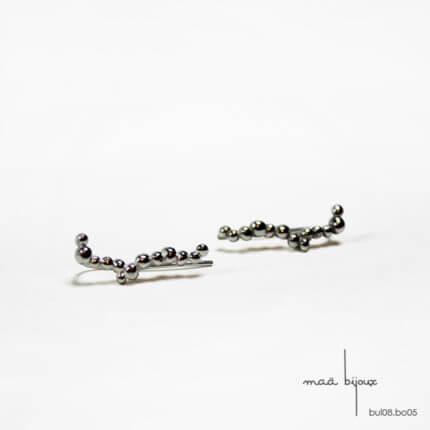 Maä bijoux - Ear cuff en argent massif, collection bulle, maa bijoux, bijoux d'oreille