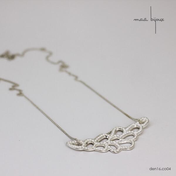 collection dentelle, collier en argent massif recyclé, maa-bijoux - den16.co04