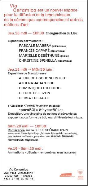Inauguration espace de creation et Métiers d'Art Apt - Marielle Debethune