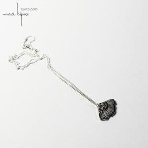 petit collier corolle inspiré des fleurs, en argent massif recyclé, maä bijoux