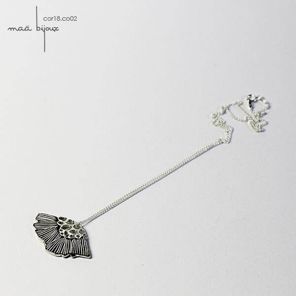 Maä bijoux, collection corolle, collier en argent massif recyclé, bijou d'artisan, bijou pour femme cor18.co02