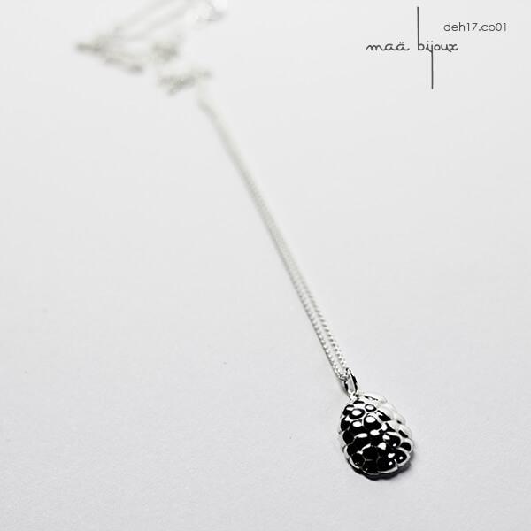 collier dehiscence inspiré de la nature, maä bijoux, argent recyclé , bijoux écologique maä bijoux