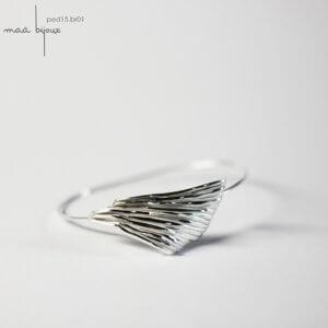 bracelet jonc en argent massif recyclé, jonc ouvert, bijou écologique, Maä bijoux fait en france