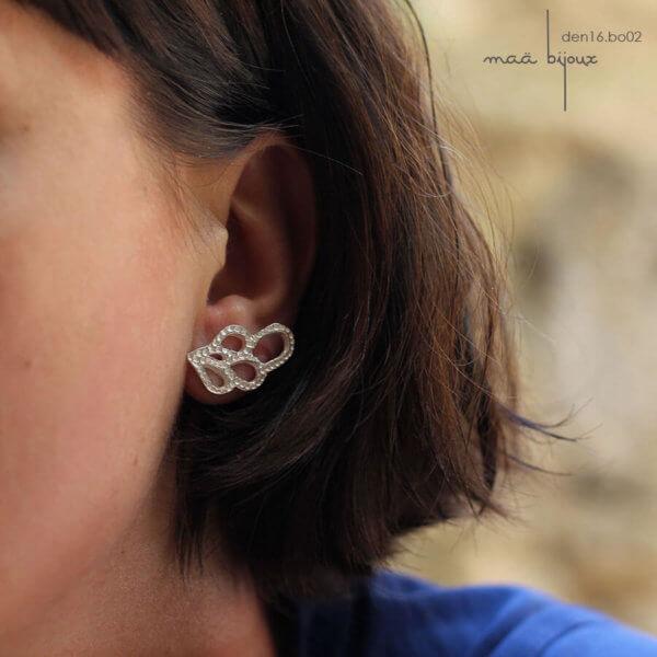 bijoux maa, en argent massif recyclé, bijoux écologique, bijou de createur, petit artisan