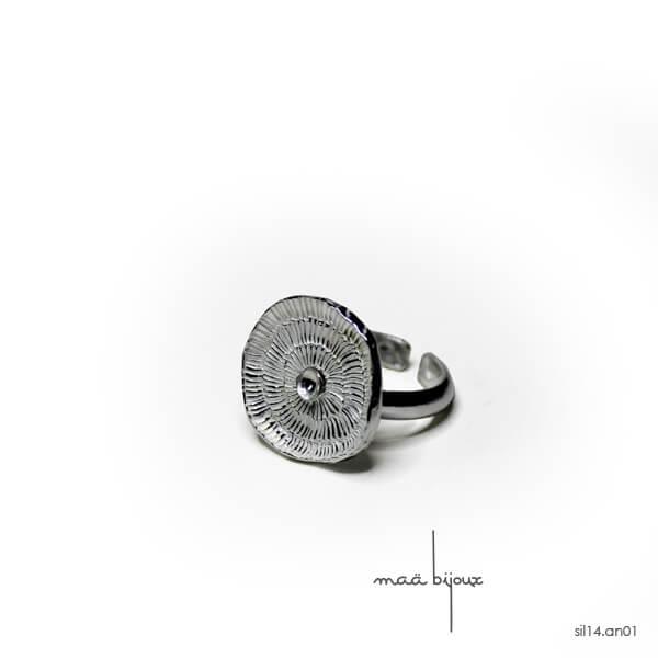 bague maä bijoux en argent massif, colelction sillage, bijou de caractère inspiré de l anatuare fabriqué avec de l'argent recyclé, bijou écologique