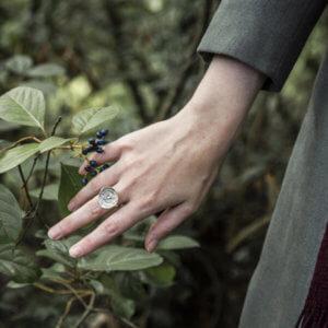 bague nénuphar en argent massif recyclé, bijou de créateur écologique fabriqué en france, bijou artisanal
