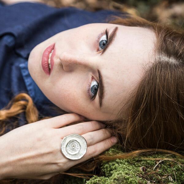Maä bijoux, collection sillage, bague en argent massif inspiré de la nature, sil14.an02 modl