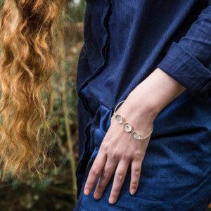 maä bijoux, bracelet en argent massif recyclé inspiré de la nature, fabriqué en france à la main,