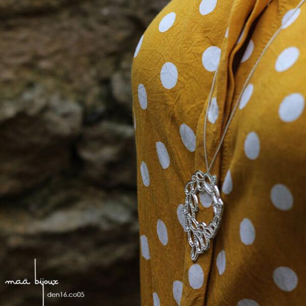 maa bijoux - sautoir en argent massif recyclé 925, bijoux ethique ecologique et local, den16.co05