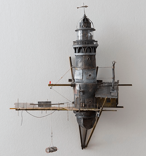 cabanes phare de l'artiste David Manasot