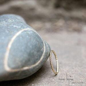 Alliance maä en or jaune 18 carats, modèle perlé, inspiration de la nature, bijou écologique