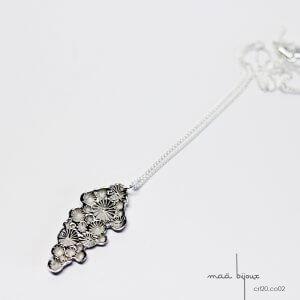 collier étoile de la collection corail inspiré de la nature fabriqué en france en argent massif recyclé, bijoux écologique, maä bijoux
